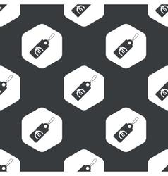 Black hexagon euro price pattern vector