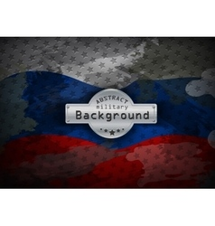 Camouflage military grunge pattern flag russia vector