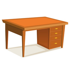 Cartoon office desk vector