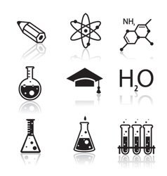chemistry icons for learning and web appl vector image