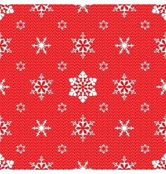 Christmas pattern with openwork snowflakes vector image vector image
