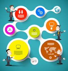 Circle Infographic Layout wit Businessmen or vector image