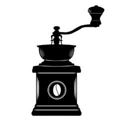 Coffee grinder in black and white simple style vector image