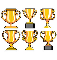 collection of trophy vector image