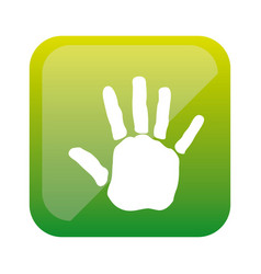 color square with handprint icon vector image