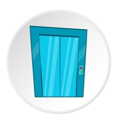 Door of elevator icon cartoon style vector