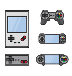 Gamepad set isolated on white vector
