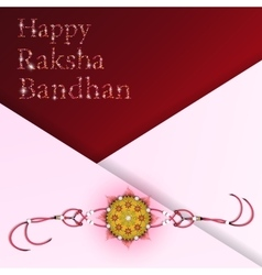 Happy raksha bandhan celebration vector