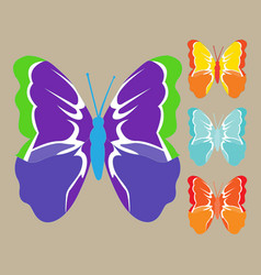 image of colored butterflies vector image