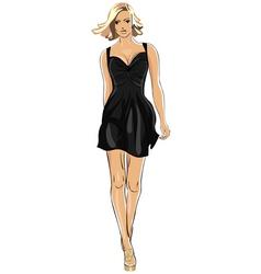 little black dress vector image vector image