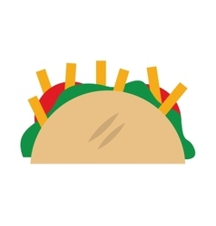 mexican food taco icon vector image