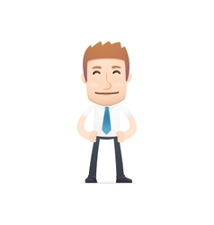 office worker in various poses vector image vector image