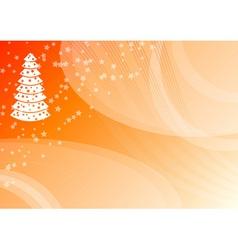 orange christmas vector image vector image