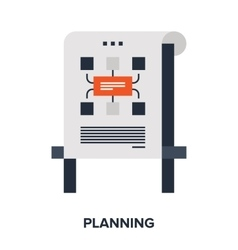 planning flat concept vector image vector image