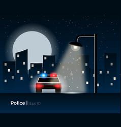Police car concept vector