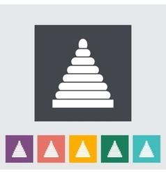 Pyramid toy vector image vector image