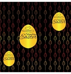 Seamless pattern with Easter eggs on black vector image