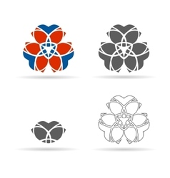 set of geometrical figures ornament vector image vector image
