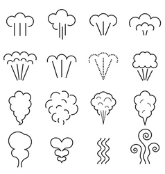 Steam icons vector image