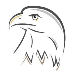 stylized eagle head design vector image vector image