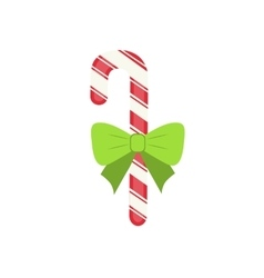Traditional celebratory Christmas candy with green vector image vector image