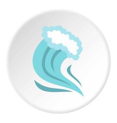 Tsunami icon circle vector
