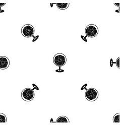 Vintage electric fan pattern seamless black vector