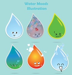 Water moods vector