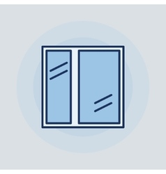 Window flat icon vector image vector image