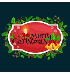 Winter greeting card Christmas holiday banner vector image
