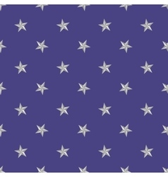 Silver stars pattern on the blue background vector image