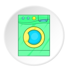 Green washer icon cartoon style vector