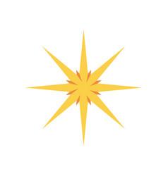 Golden glittering star shaped christmas ornament vector