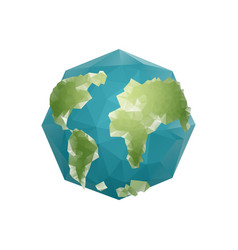 Earth polygon planet geometric figure octagon vector