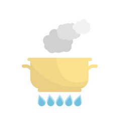 boiling pot on the gas vector image