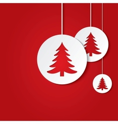 Christmas balls with christmas trees vector