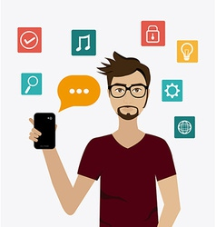 Chat mobile design vector