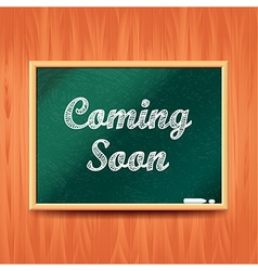 Coming soon concept with school board vector