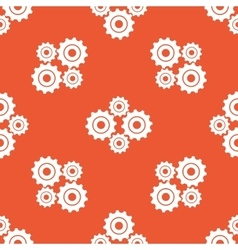 Orange cogs pattern vector
