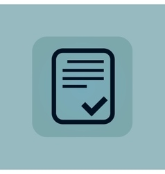 Pale blue accepted document icon vector