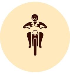 Motorcycle rider vector image