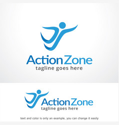 action zone logo template design vector image vector image