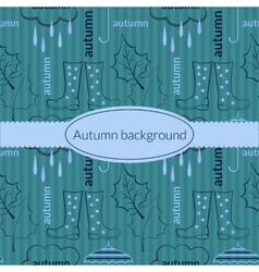 Autumn background pattern vector image vector image