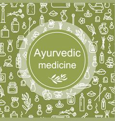 Ayurvedic medicine - poster vector