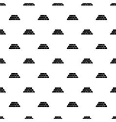 Bars or bullions pattern simple style vector