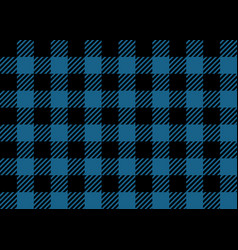 blue and black lumberjack seamless pattern vector image