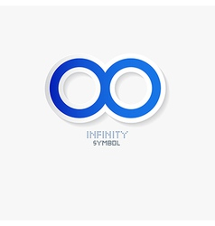 Blue Paper Infinity Symbol vector image