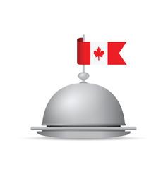 Canada flag dinner platter vector