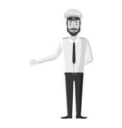 Captain of ship icon gray monochrome style vector image vector image
