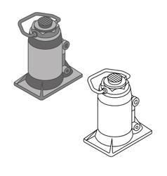Car jack spare parts set vector